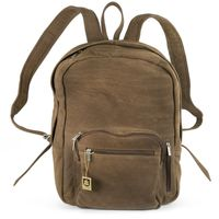Hamosons – Large leather backpack size L / laptop backpack up to 15.6 inches, made out of buffalo leather, tan, model 514-2