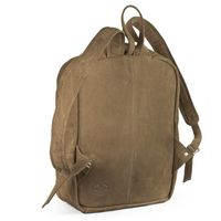 Hamosons – Large leather backpack size L / laptop backpack up to 15.6 inches, made out of buffalo leather, tan, model 514