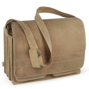Jahn-Tasche, 677 - Große, beige Aktentasche bzw. Lehrertasche, Frontansicht - 01