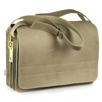 Jahn-Tasche – Very Large briefcase / teacher bag size XXL made out of buffalo leather, light grey, model 677-1