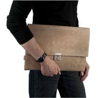 Jahn-Tasche – A4 Aktenmappe / Dokumentenmappe, aus Büffel-Leder, Creme-Beige, Modell 1022