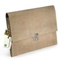 Jahn-Tasche – A4 document case / document holder made out of buffalo leather, cream beige, model 1022-2