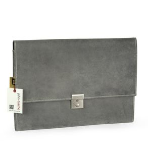 Jahn-Tasche – A4 briefcase / document case made out of buffalo leather, grey, model 1022