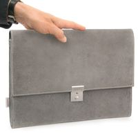 Jahn-Tasche – A4 briefcase / document case made out of buffalo leather, grey, model 1022-2
