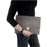 Jahn-Tasche – A4 briefcase / document case made out of buffalo leather, grey, model 1022-3