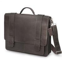 Harolds - Leather Briefcase, Satchel, Teacher's Bag, Brown, Model 294035