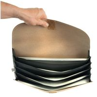 Jahn-Tasche – A4 document case / document holder made out of buffalo leather, cream beige, model 1040-4