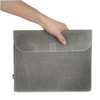 Jahn-Tasche – A4 document case / document holder made out of buffalo leather, grey, model 1040-2