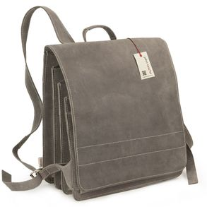 Jahn-Tasche – Very Large leather backpack / teacher backpack size XL made out of buffalo leather, grey, model 670