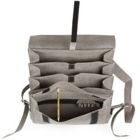 Jahn-Tasche – Very Large leather backpack / teacher backpack size XL made out of buffalo leather, grey, model 670-3