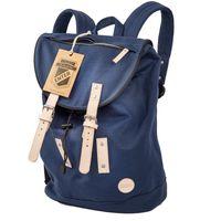 Enter, S16CC1511 20 - Großer, blauer stylischer Canvas-Rucksack bzw. Seesack-Rucksack, Frontansicht - 01