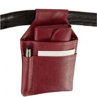 Hamosons – Professional waiter's holster / waiter's belt bag made out of Nappa leather, red, model 1009-4