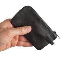 Branco, 018 - Großes Schlüsseletui bzw. Schlüsselmäppchen aus Leder in schwarz, Frontansicht - 02