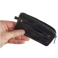 Branco, 018 - Großes Schlüsseletui bzw. Schlüsselmäppchen aus Leder in schwarz, Seitenansicht geöffnet - 04