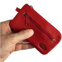 Branco – Großes Schlüsseletui / Schlüsselmäppchen Größe L aus Leder, Rot, Modell 018