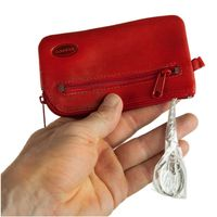 Branco – Large key case / key holder made out of leather, red, model 018-3