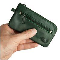 Branco – Großes Schlüsseletui / Schlüsselmäppchen aus Leder, Jäger-Grün, Modell 018