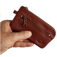 Branco – Large key case / key holder made out of leather, brown, model 018
