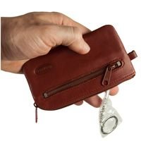 Branco – Large key case / key holder made out of leather, brown, model 018-3