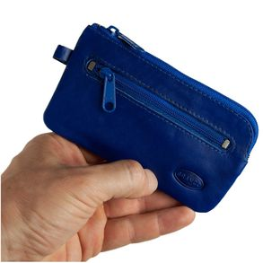 Branco – Large key case / key holder made out of leather, royal blue, model 018
