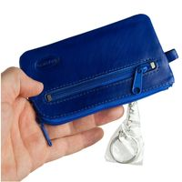 Branco – Large key case / key holder made out of leather, royal blue, model 018-3