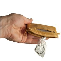 Branco – Small key case / key holder made out of leather, black, model 019-4
