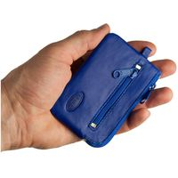 Branco – Small key case / key holder made out of leather, royal blue, model 019