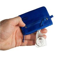 Branco – Small key case / key holder made out of leather, royal blue, model 019-3