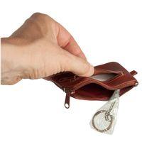 Branco – Kleines Schlüsseletui / Schlüsselmäppchen aus Leder, Braun, Modell 019