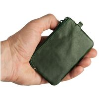 Branco – Small key case / key holder made out of leather, hunter's green, model 019-2