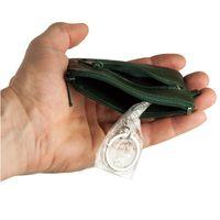 Branco, 019 - Kleines Schlüsseletui bzw. Schlüsselmäppchen aus Leder in grün, Aufsicht geöffnet - 04