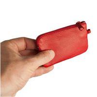 Branco, 019 - Kleines Schlüsseletui bzw. Schlüsselmäppchen aus Leder in rot, Frontansicht - 02