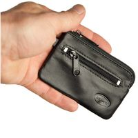 Branco – Small key case / key holder made out of leather, black, model 019