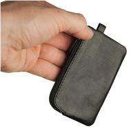 Branco – Kleines Schlüsseletui / Schlüsselmäppchen aus Leder, Schwarz, Modell 019