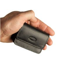 Branco – Very small wallet / coin purse size XS, made out of leather, black, model 108
