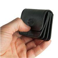 Branco, 108 - Sehr kleine Geldbörse bzw. Mini-Münzbörse in schwarz, Seitenansicht - 04