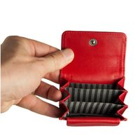Branco – Very small wallet / coin purse size XS, made out of leather, red, model 108-3