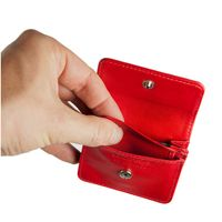 Branco – Very small wallet / coin purse size XS, made out of leather, red, model 108-2