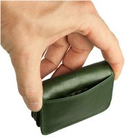 Branco – Very small wallet / coin purse size XS, made out of leather, hunter's green, model 108-5