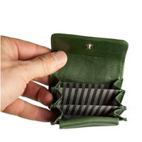 Branco – Very small wallet / coin purse size XS, made out of leather, hunter's green, model 108-3