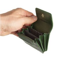 Branco – Very small wallet / coin purse size XS, made out of leather, hunter's green, model 108-4
