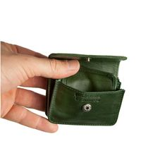 Branco – Very small wallet / coin purse size XS, made out of leather, hunter's green, model 108-2