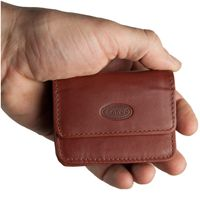 Branco – Very small wallet / coin purse size XS, made out of leather, brown, model 108