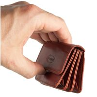Branco, 108 - Sehr kleine Geldbörse bzw. Mini-Münzbörse in braun, Seitenansicht - 04