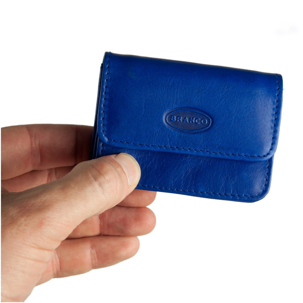 Royal Blue Leather Clutch Wallet  Leather Mini Wallet  Blue Leather Pouch