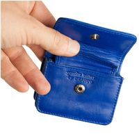 Branco – Very small wallet / coin purse size XS, made out of leather, royal blue, model 108-2