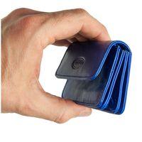 Branco, 108 - Sehr kleine Geldbörse bzw. Mini-Münzbörse in blau, Seitenansicht - 04