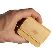Branco – Very small wallet / coin purse size XS, made out of leather, natural beige, model 108