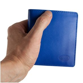 Branco – Small wallet / billfold size S for men made out of leather, upright format, royal blue, model 12057