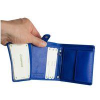 Branco – Kleine Geldbörse / Kleines Portemonnaie für Herren aus Leder, Hochformat, Azur-Blau, Modell 12057
